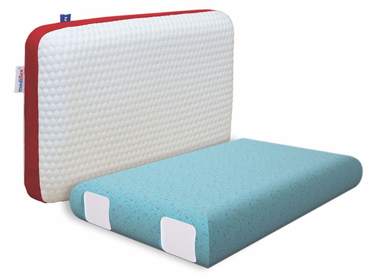 Подушка ортопедическая Mediflex Forte, размер L28032022Сон на неправильной подушке является причиной ухудшения качества сна. Подушки разработаны специалистами лаборатории сна совместно с академиком В.И. Дикулем, гарантируют поддержку шейных позвонков во время сна.