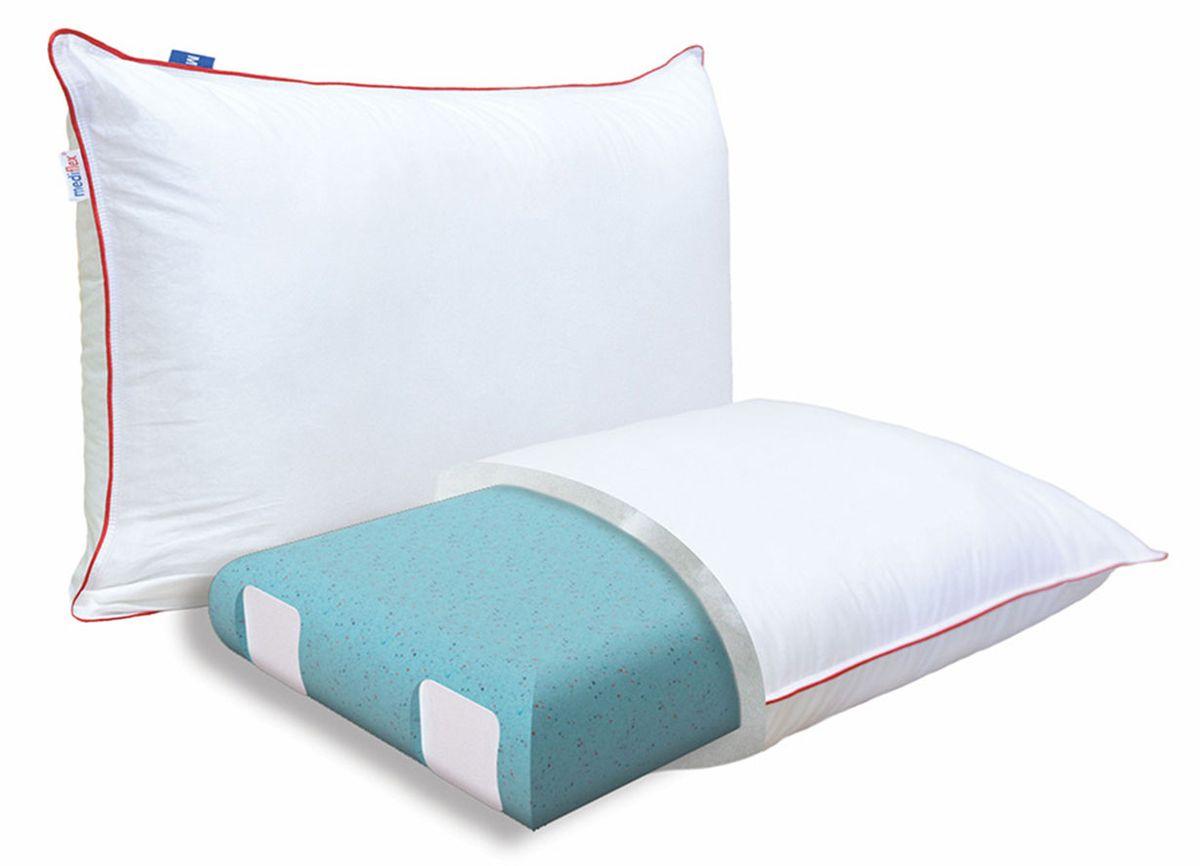 Подушка ортопедическая Mediflex Forte Plus, размер L, 50 х 70 см подушки homedics ортопедическая подушка memory foam luxury box