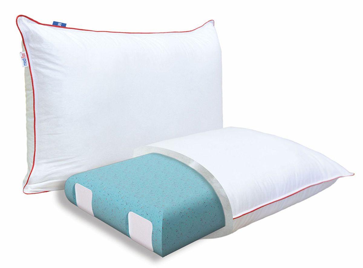 Подушка ортопедическая Mediflex Forte Plus, размер MES-412Сон на неправильной подушке является причиной ухудшения качества сна. Подушки разработаны специалистами лаборатории сна совместно с академиком В.И. Дикулем, гарантируют поддержку шейных позвонков во время сна.