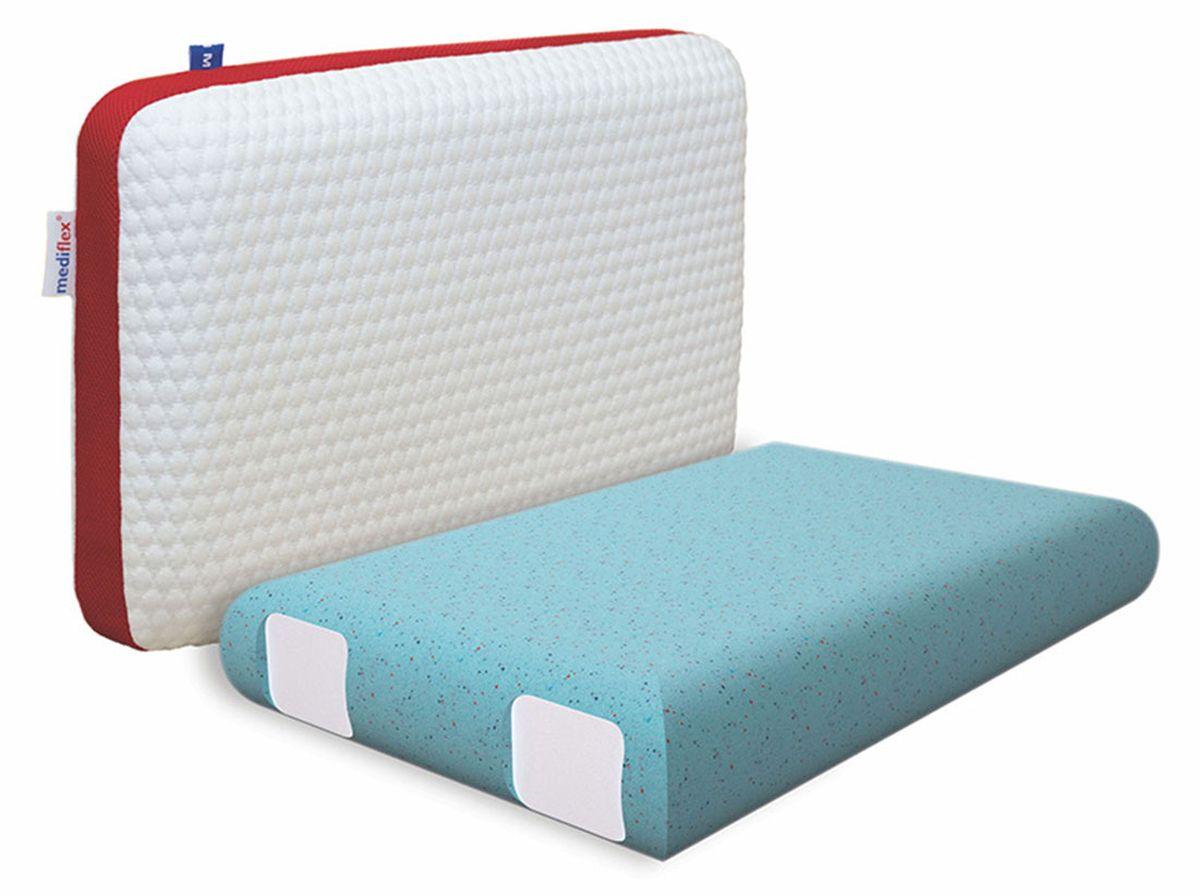 Подушка ортопедическая Mediflex Forte, размер MGESS-014Сон на неправильной подушке является причиной ухудшения качества сна. Подушки разработаны специалистами лаборатории сна совместно с академиком В.И. Дикулем, гарантируют поддержку шейных позвонков во время сна.