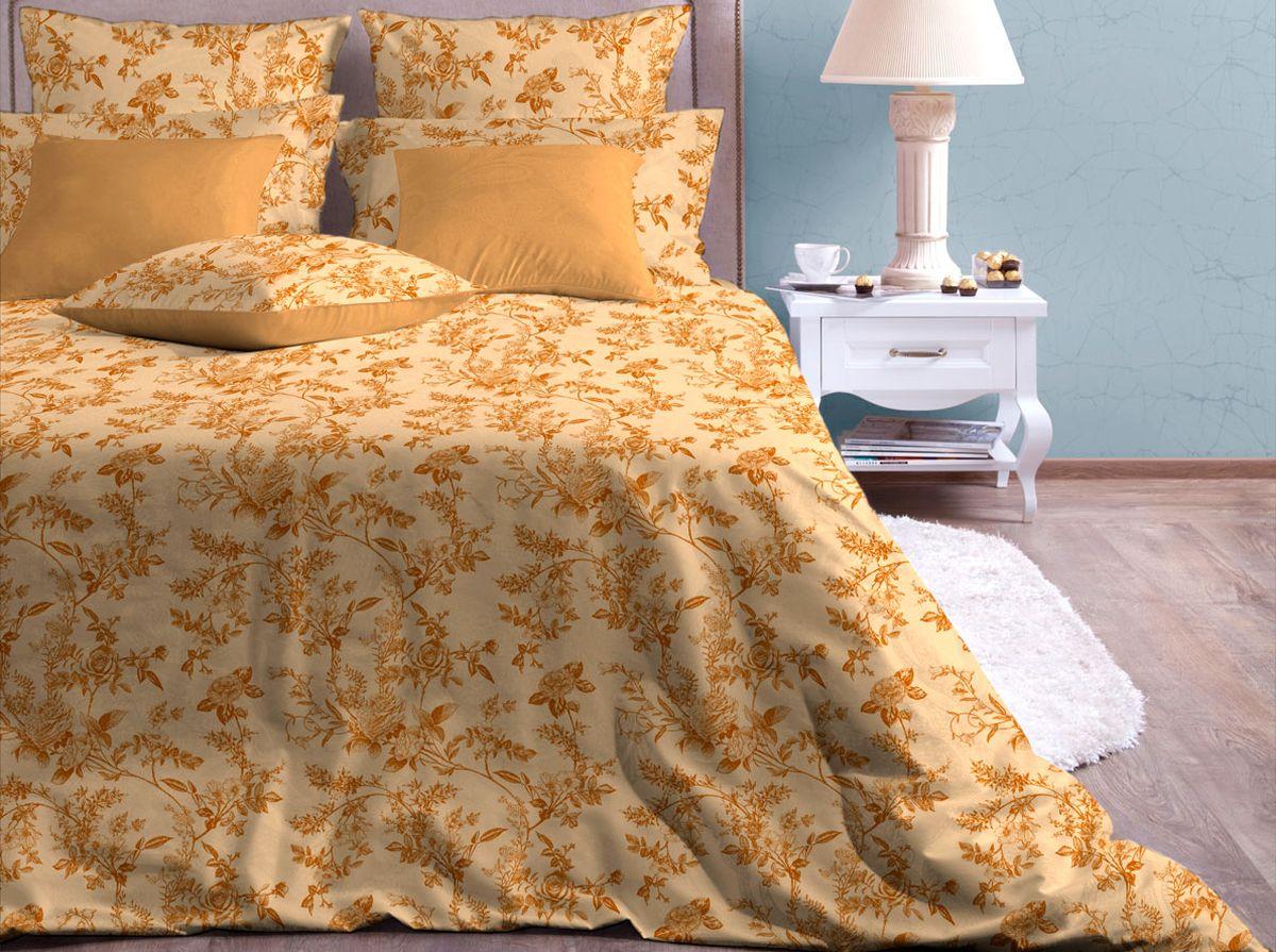 Комплект белья Хлопковый Край Райский сад, 1,5-спальный, наволочки 50x70391602Комплект постельного белья выполнен из качественной бязи и украшен оригинальным рисунком. Комплект состоит из пододеяльника, простыни и двух наволочек.Бязь представляет из себя хлопчатобумажную матовую ткань (не блестит). Главные отличия переплетения: оно плотное, нити толстые и частые. Из-за этого материал очень прочный и практичный.Постельное белье Хлопковый Край экологичное, гипоаллергенное, оно легко стирается и гладится, не сильно мнется и выдерживает очень много стирок, при этом сохраняя яркость цвета и рисунка.