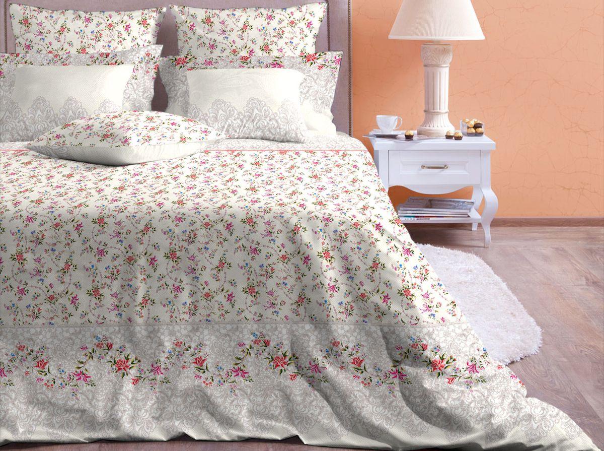 Комплект белья Хлопковый Край Ажур, 2-спальный, наволочки 70x7068/5/3Комплект постельного белья выполнен из качественной бязи и украшен оригинальным рисунком. Комплект состоит из пододеяльника, простыни и двух наволочек.Бязь представляет из себя хлопчатобумажную матовую ткань (не блестит). Главные отличия переплетения: оно плотное, нити толстые и частые. Из-за этого материал очень прочный и практичный.Постельное белье Хлопковый Край экологичное, гипоаллергенное, оно легко стирается и гладится, не сильно мнется и выдерживает очень много стирок, при этом сохраняя яркость цвета и рисунка.