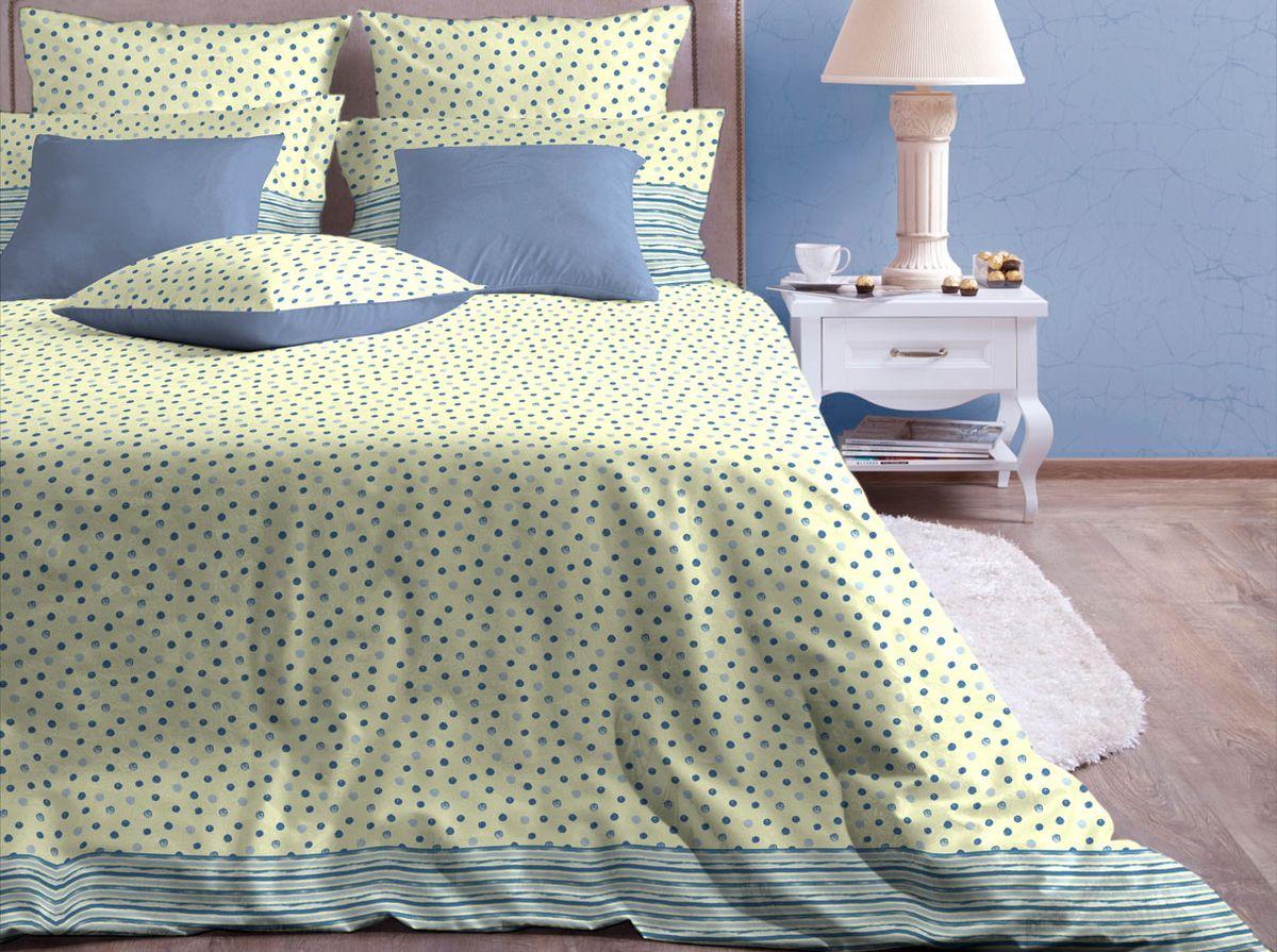 Комплект белья Хлопковый Край Пузыри, евро, наволочки 70x7020/005-SLКомплект постельного белья выполнен из качественной бязи и украшен оригинальным рисунком. Комплект состоит из пододеяльника, простыни и двух наволочек.Бязь представляет из себя хлопчатобумажную матовую ткань (не блестит). Главные отличия переплетения: оно плотное, нити толстые и частые. Из-за этого материал очень прочный и практичный.Постельное белье Хлопковый Край экологичное, гипоаллергенное, оно легко стирается и гладится, не сильно мнется и выдерживает очень много стирок, при этом сохраняя яркость цвета и рисунка.