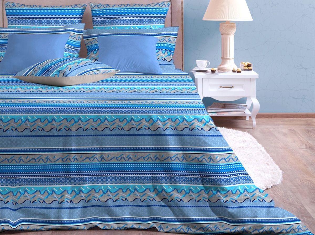 Комплект белья Хлопковый Край Серпантин, 1,5-спальный, наволочки 70x7030/160-PPКомплект постельного белья выполнен из качественной бязи и украшен оригинальным рисунком. Комплект состоит из пододеяльника, простыни и двух наволочек.Бязь представляет из себя хлопчатобумажную матовую ткань (не блестит). Главные отличия переплетения: оно плотное, нити толстые и частые. Из-за этого материал очень прочный и практичный.Постельное белье Хлопковый Край экологичное, гипоаллергенное, оно легко стирается и гладится, не сильно мнется и выдерживает очень много стирок, при этом сохраняя яркость цвета и рисунка.