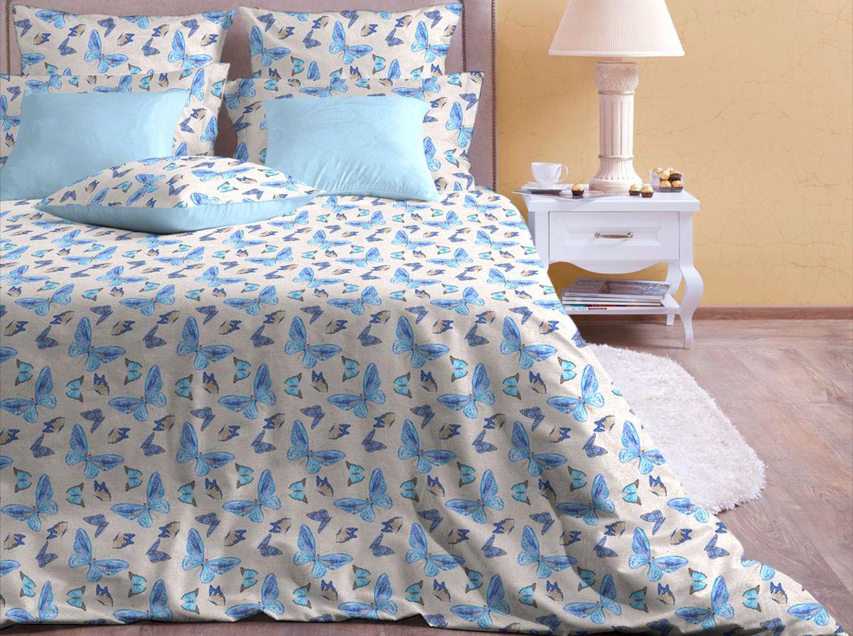 Комплект белья Хлопковый Край Бабочки, 2-спальный, наволочки 50x70CLP446Комплект постельного белья выполнен из качественной бязи и украшен оригинальным рисунком. Комплект состоит из пододеяльника, простыни и двух наволочек.Бязь представляет из себя хлопчатобумажную матовую ткань (не блестит). Главные отличия переплетения: оно плотное, нити толстые и частые. Из-за этого материал очень прочный и практичный.Постельное белье Хлопковый Край экологичное, гипоаллергенное, оно легко стирается и гладится, не сильно мнется и выдерживает очень много стирок, при этом сохраняя яркость цвета и рисунка.