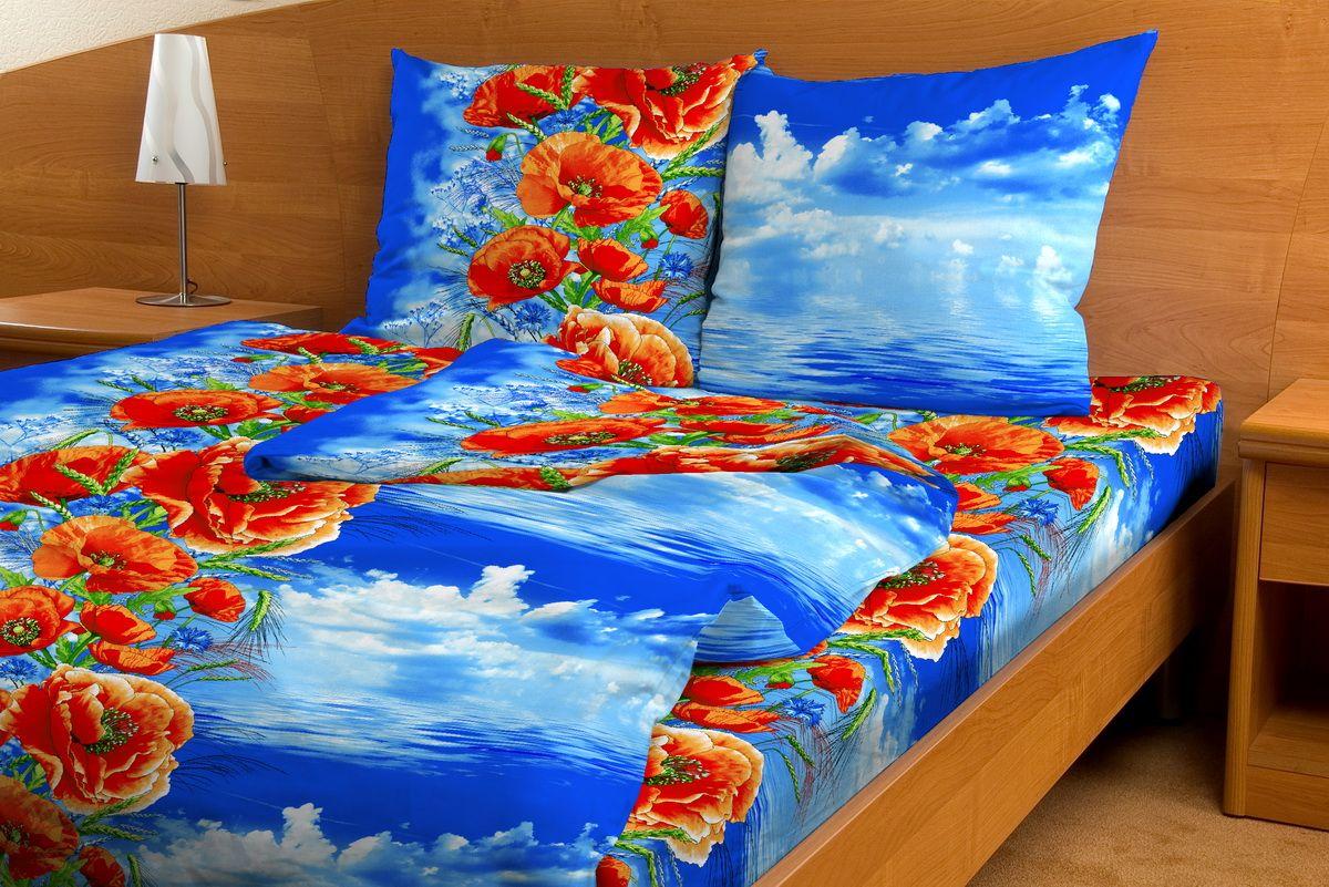 Комплект белья Amore Mio Makovii bereg, 1,5-спальный, наволочки 70x70RC-100BWCКомплект постельного белья Amore Mio является экологически безопасным для всей семьи, так как выполнен из бязи (100% хлопок). Комплект состоит из пододеяльника, простыни и двух наволочек. Постельное белье оформлено оригинальным рисунком и имеет изысканный внешний вид.Легкая, плотная, мягкая ткань отлично стирается, гладится, быстро сохнет. Рекомендации по уходу: Химчистка и отбеливание запрещены.Рекомендуется стирка в прохладной воде при температуре не выше 30°С.