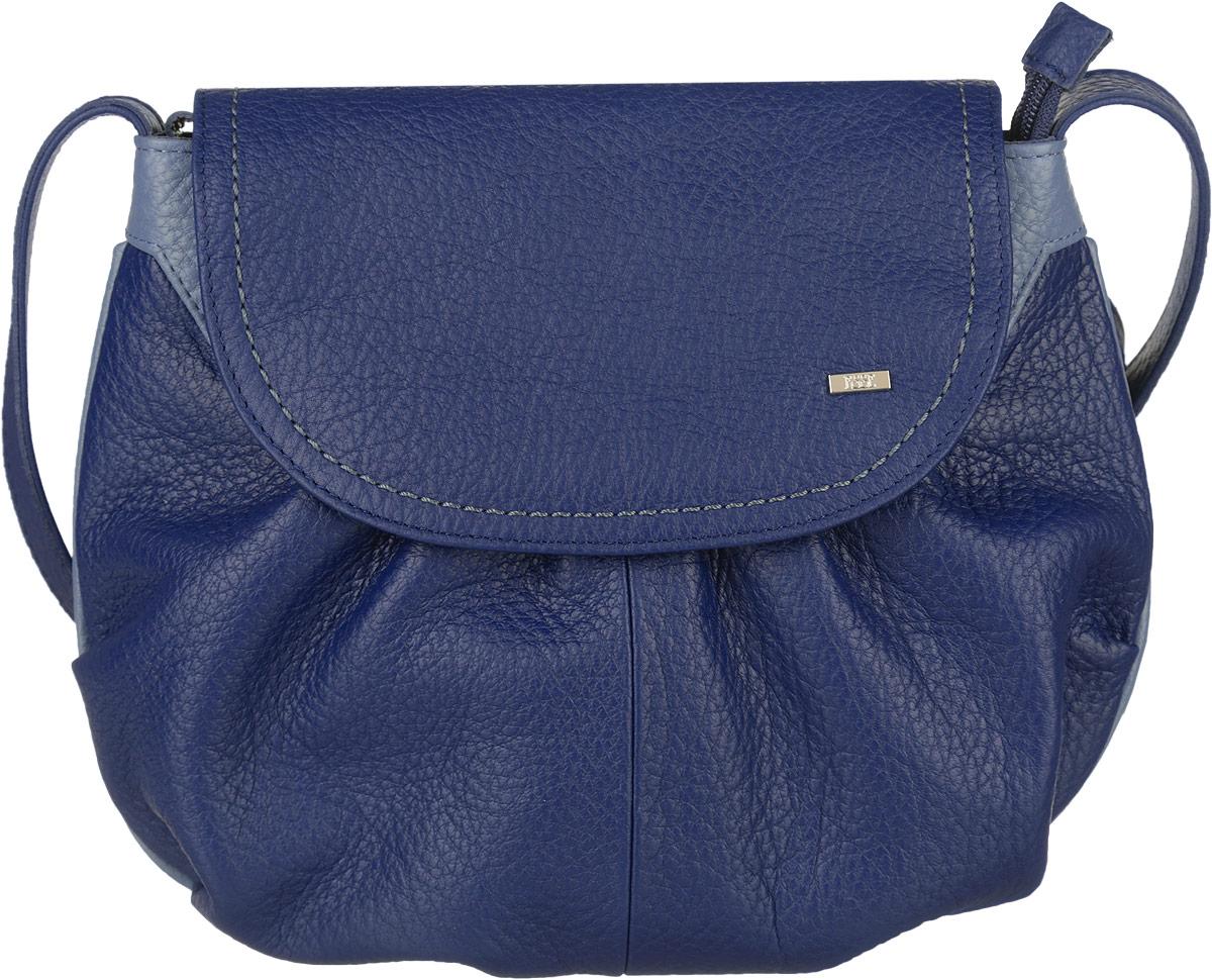 Сумка женская Esse Фаина, цвет: синий, голубой. GFAI5U-00ML00-FG508O-K101KV996OPY/MЭлегантная женская сумка Esse Фаина изготовлена из натуральной кожи зернистой фактуры, оформлена декоративными складками и металлической пластиной логотипа бренда. Очень удобная, легкая и практичная модель станет отличным дополнением вашего блистательного образа. Сумка состоит из одного отделения, застёгивается на молнию и дополнительно клапаном на магнитную кнопку. Отделение содержит врезной карман на молнии и нашивной карман для телефона или мелочей. На задней стенке расположен врезной карман на молнии. Сумка оснащена несъемным плечевым ремнём регулируемой длины.Прилагается текстильный фирменный чехол для хранения. Стильный и практичный аксессуар отлично завершит образ и подчеркнет ваш безупречный вкус.
