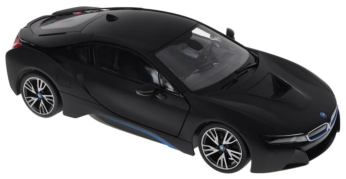 """Радиоуправляемая модель Rastar """"BMW i8"""" - это прекрасно смоделированная копия реального автомобиля, отличается хорошей детализацией, световыми эффектами и качественным видом. Отлично подходит для гонок, как дома, так и на улице с друзьями. Все дети хотят иметь в наборе своих игрушек ослепительные, невероятные и крутые автомобили на радиоуправлении. Тем более, если это автомобиль известной марки с проработкой всех деталей, удивляющий приятным качеством и видом. Одной из таких моделей является автомобиль на радиоуправлении Rastar """"BMW i8"""". Это точная копия настоящего авто в масштабе 1:14. Авто обладает неповторимым провокационным стилем и спортивным характером. Потрясающая маневренность, динамика и покладистость - отличительные качества этой модели. Машина может осуществлять движение вперед, назад, вправо и влево, при движении назад у нее загораются стоп-сигналы, при движении вперед - фары. Колеса игрушки прорезинены и обеспечивают плавный ход, машинка не портит напольное..."""