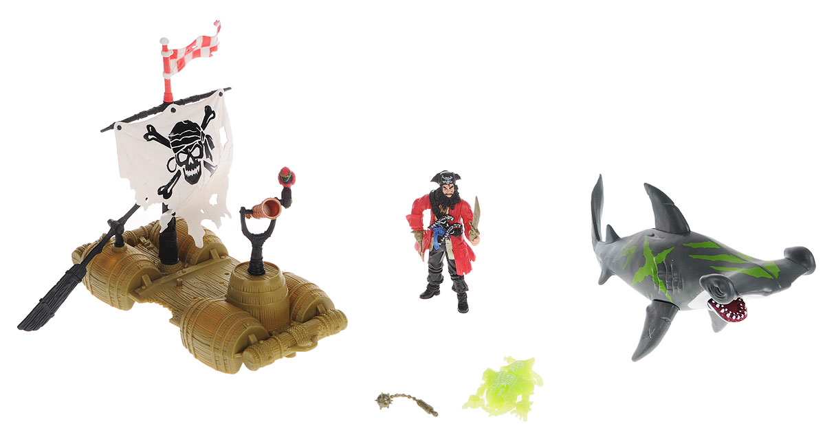 Chap Mei Игровой набор Пираты Капитан на плоту