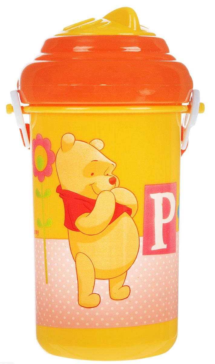 Lubby Поильник-непроливайка Медвежонок Винни с трубочкой от 6 месяцев цвет желтый 360 мл -  Поильники