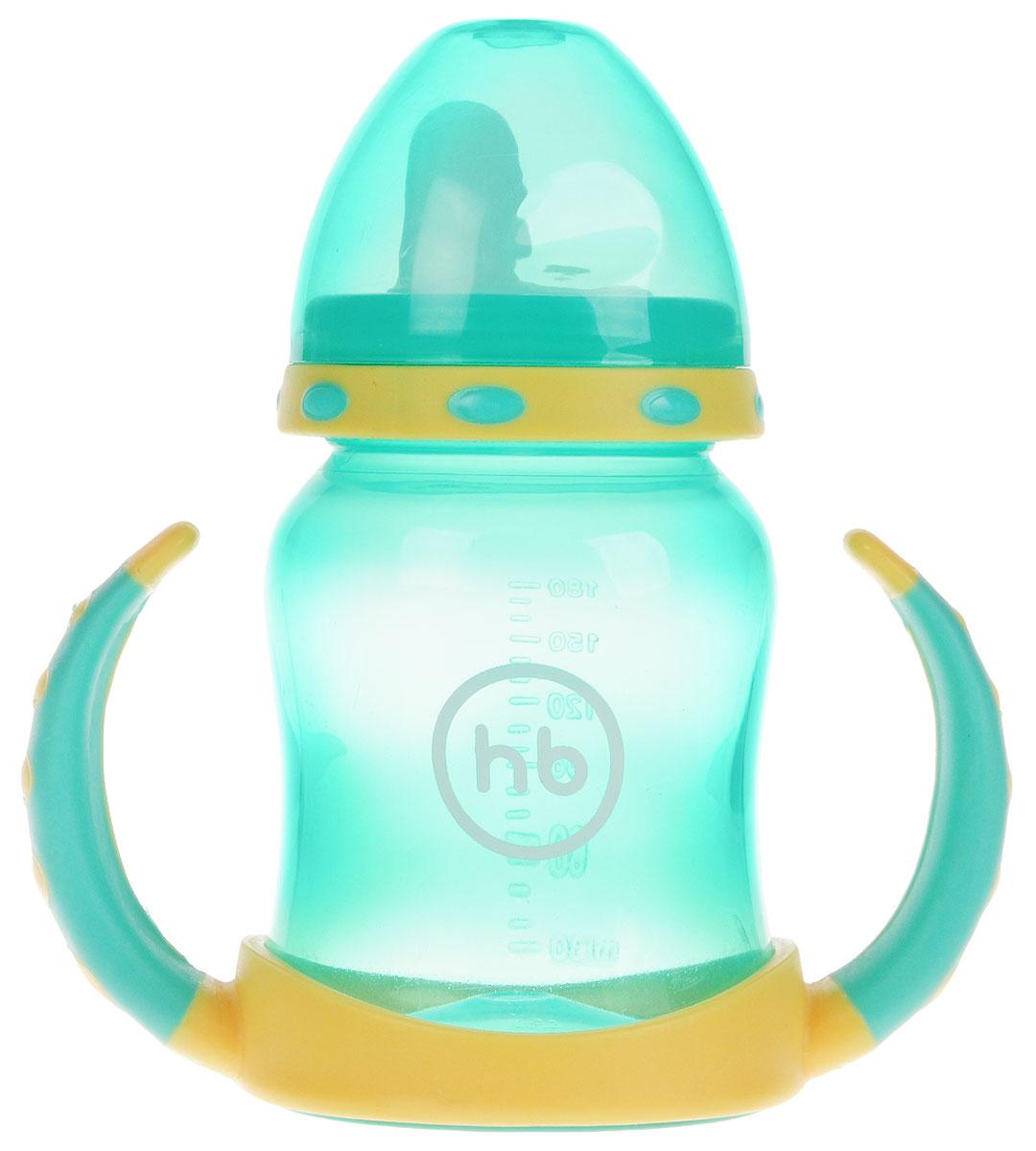 Happy Baby Поильник Ergo Cup от 6 месяцев цвет зеленый желтый 180 мл -  Поильники