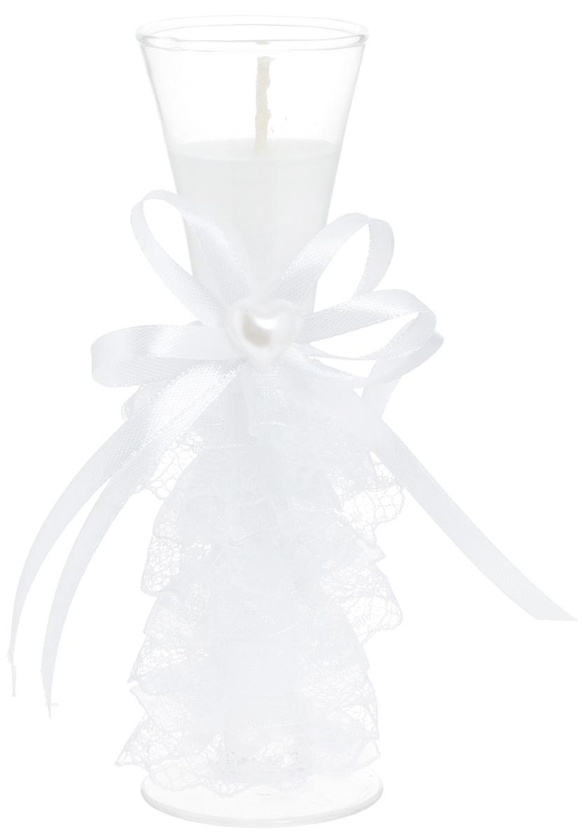 Свеча декоративная Win Max Свадебная, высота 15 см. 9470574-0060Декоративная свеча Win Max Свадебная изготовлена из воска и расположена в стеклянной колбе. Изделие оформлено декоративным камнем и текстильным лентами . Такая свеча может стать отличным подарком или дополнить интерьер вашей комнаты.Диаметр основания колбы: 5 см.