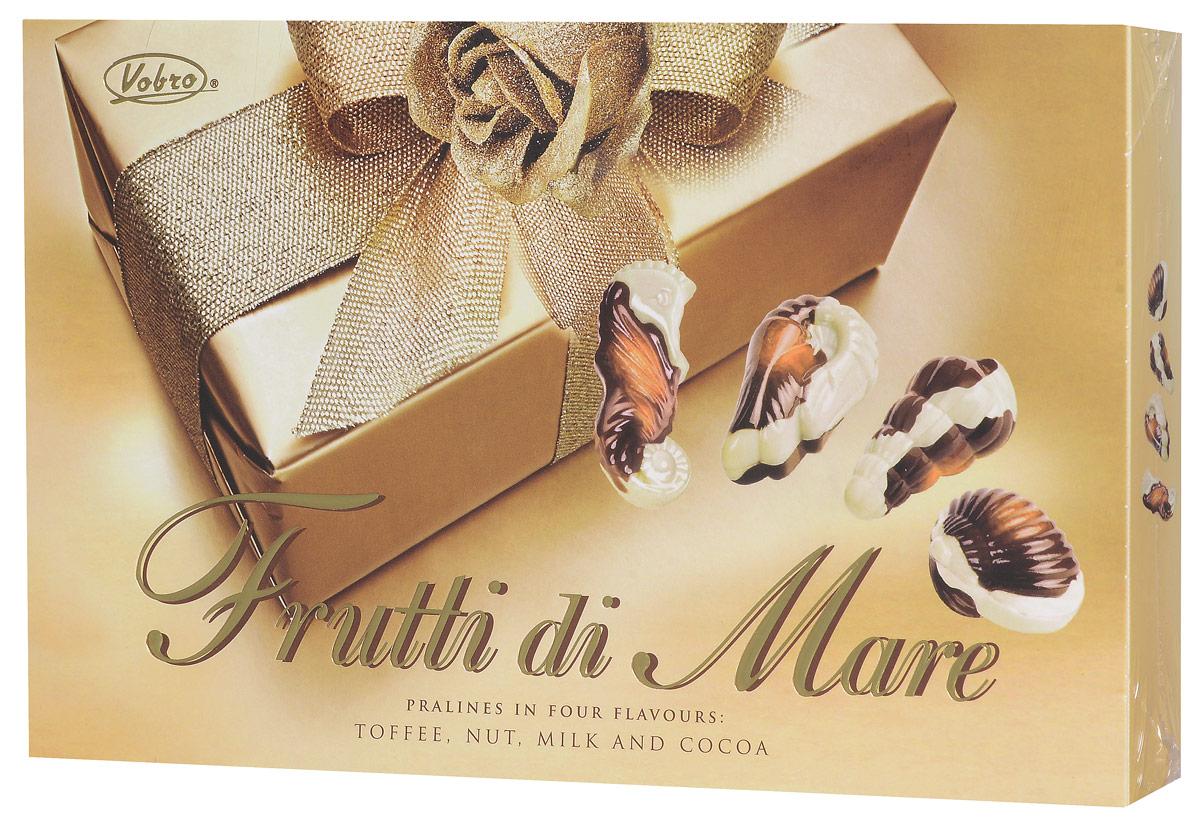 Vobro Frutti di Mare набор шоколадных конфет в виде морских ракушек, 175 г2158Шоколадные конфеты Vobro Frutti di Mare в прекрасной и элегантной упаковке — отличная идея в качестве подарка вашим близким. Глубина вкуса в сочетании с оригинальной формой шоколадных ракушек надолго останутся в памяти.