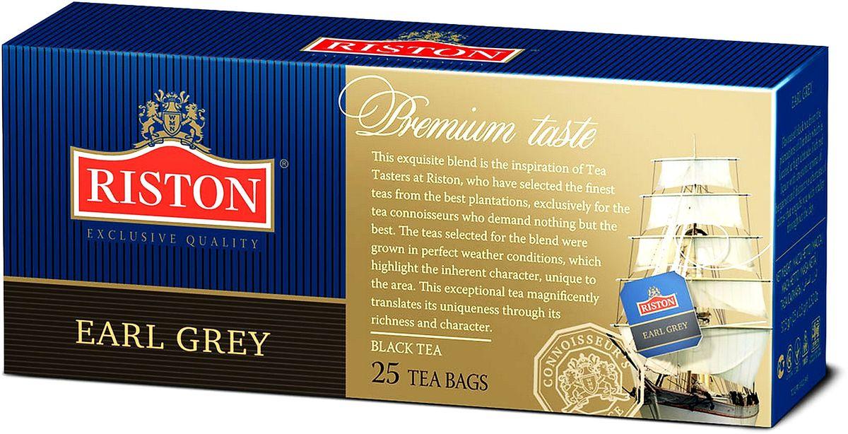 Riston Эрл грей черный чай в пакетиках, 25 шт101246Этот изысканный купаж - результат тщательной работы титестеров Riston, отбиравших элитные сорта чая с лучших плантаций мира. Эти сорта были выращены в благоприятных климатических зонах и обладают своим особенным, неповторимым вкусом. Ценители чая смогут по достоинству оценить богатство и характер изысканного аромата чая Riston.