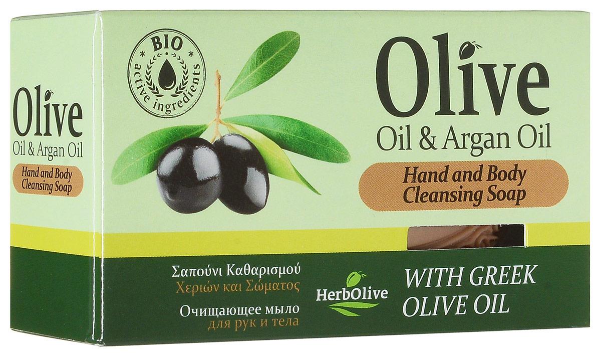 HerbOlive Оливковое мыло с маслом арганы 90 г01171Природные антиоксиданты которые содержатся воливковом мыле увлажняют ипитают кожу. Натуральное оливковое мыло, производится безискусственных красителей ихимических добавок, стимулируют новые клетки крегенерации изамедляет старение. Втожевремя смягчает кожу иоблегчает многие заболевания, включая акне, экзему. Косметика произведена в Греции на основе органического сырья, НЕ СОДЕРЖИТ минеральные масла, вазелин, пропиленгликоль, парабены, генетически модифицированные продукты (ГМО)