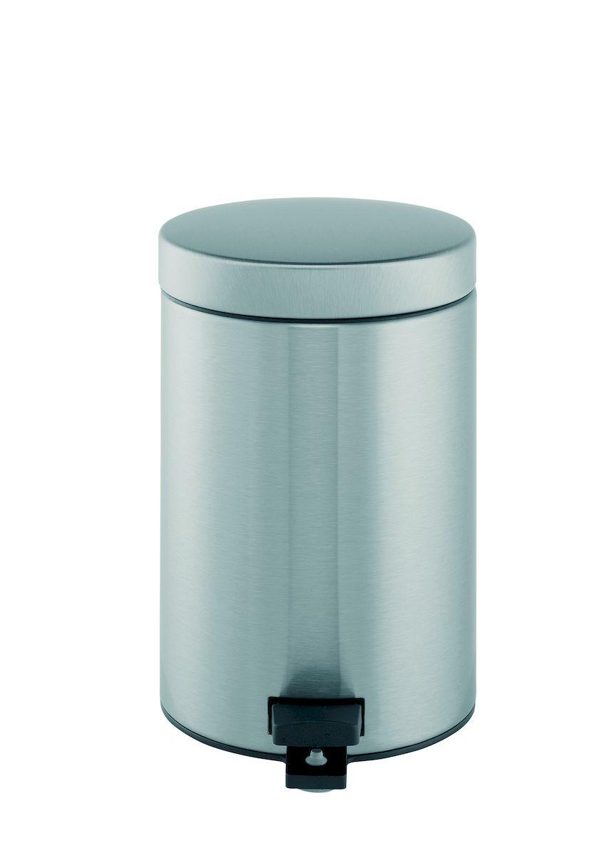 Ведро для мусора с педалью Brabantia 3л, цвет: матовая сталь с защитой от отпечатков пальцев787502Идеальное решение для ванной комнаты и туалета!Предотвращает распространение запахов – прочная не пропускающая запахи металлическая крышка;Плавное и бесшумное открывание/закрывание крышки; Удобная очистка – прочное съемное внутреннее ведро из пластика; Надежный педальный механизм, высококачественные коррозионно-стойкие материалы;Бак удобно перемещать – прочная ручка для переноски; Отличная устойчивость даже на мокром и скользком полу – противоскользящее основание; Предохранение пола от повреждений – пластиковый защитный обод;Всегда опрятный вид – идеально подходящие по размеру мешки для мусора со стягивающей лентой (размер B); 10-летняя гарантия Brabantia.