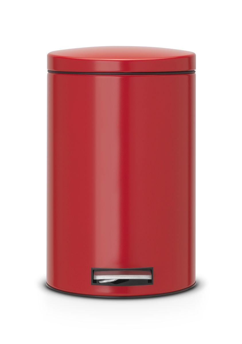 Ведро для мусора с педалью Brabantia 12л Silent, цвет: красный787502Педальный бак Brabantia на 12 л поистине универсален и идеально подходит для использования на кухне или в гостиной. Достаточно большой для того, чтобы вместить весь мусор, при этом достаточно компактный для того, чтобы аккуратно разместиться под рабочим столом. Механизм MotionControl обеспечивает мягкое действие педали и бесшумное открывание крышки; Удобный в использовании - при открывании вручную крышка фиксируется в открытом положении, закрывается нажатием педали; Надежный педальный механизм, высококачественные коррозионно-стойкие материалы; Удобная очистка - прочное съемное внутреннее пластиковое ведро; Предохранение пола от повреждений - пластиковое защитное основание; Всегда опрятный вид - идеально подходящие по размеру мешки для мусора с завязками (размер C); 10-летняя гарантия Brabantia.