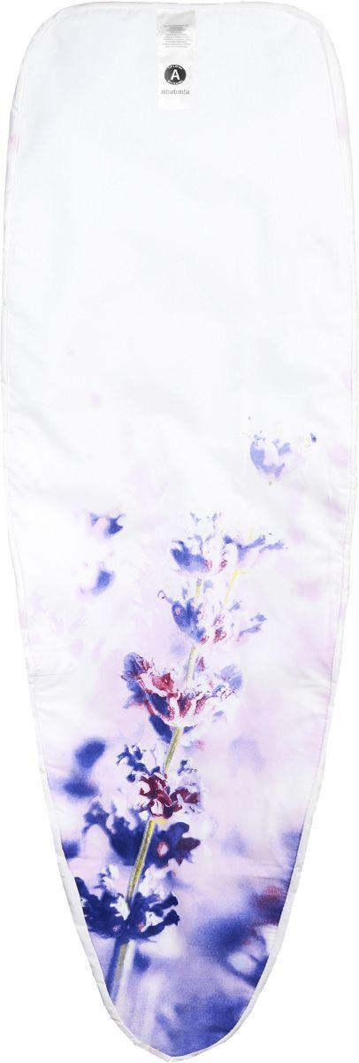 Чехол для гладильной доски Brabantia Сиреневые цветы, 110 х 30 смGC204/30Чехол для гладильной доски Brabantia Сиреневые цветы, выполненный из хлопка, подарит вашей доске новую жизнь и создаст идеальную поверхность для глажения и отпаривания белья. Чехол снабженстягивающим шнуром, при помощи которого вы легко отрегулируетеоптимальное натяжение чехла и зафиксируете его на рабочейповерхности гладильной доски.В комплекте имеются ключ для натяжения нити и резинка с крючками длялучшей фиксации чехла.Этот качественный чехол обеспечит вам легкое глажение.Размер чехла: 110 х 30 см.