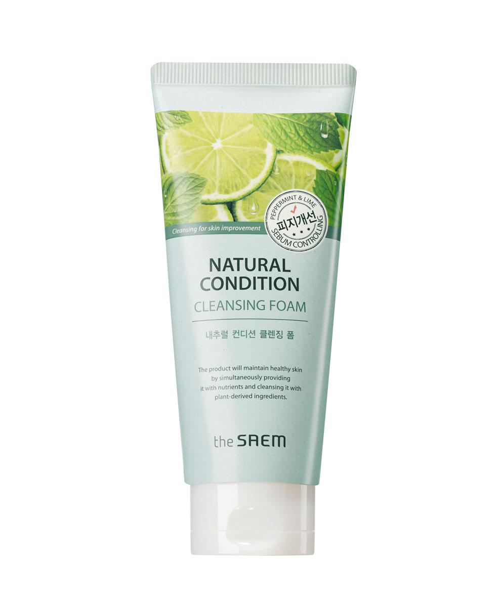 The Saem Пенка для умывания жирной кожи Natural Condition Cleansing Foam Sebum Controlling, 150 мл028632XКосметическое средство, которое является дополнением к крему для снятия макияжа. По своей фактуре является пеной, благодаря ей позволяет удалить с лица абсолютно любой шар косметики и просто освежить кожу. Может использоваться как в качестве средства для снятия макияжа, так и для укрепления здоровья кожи. Вес товара: 150 мл