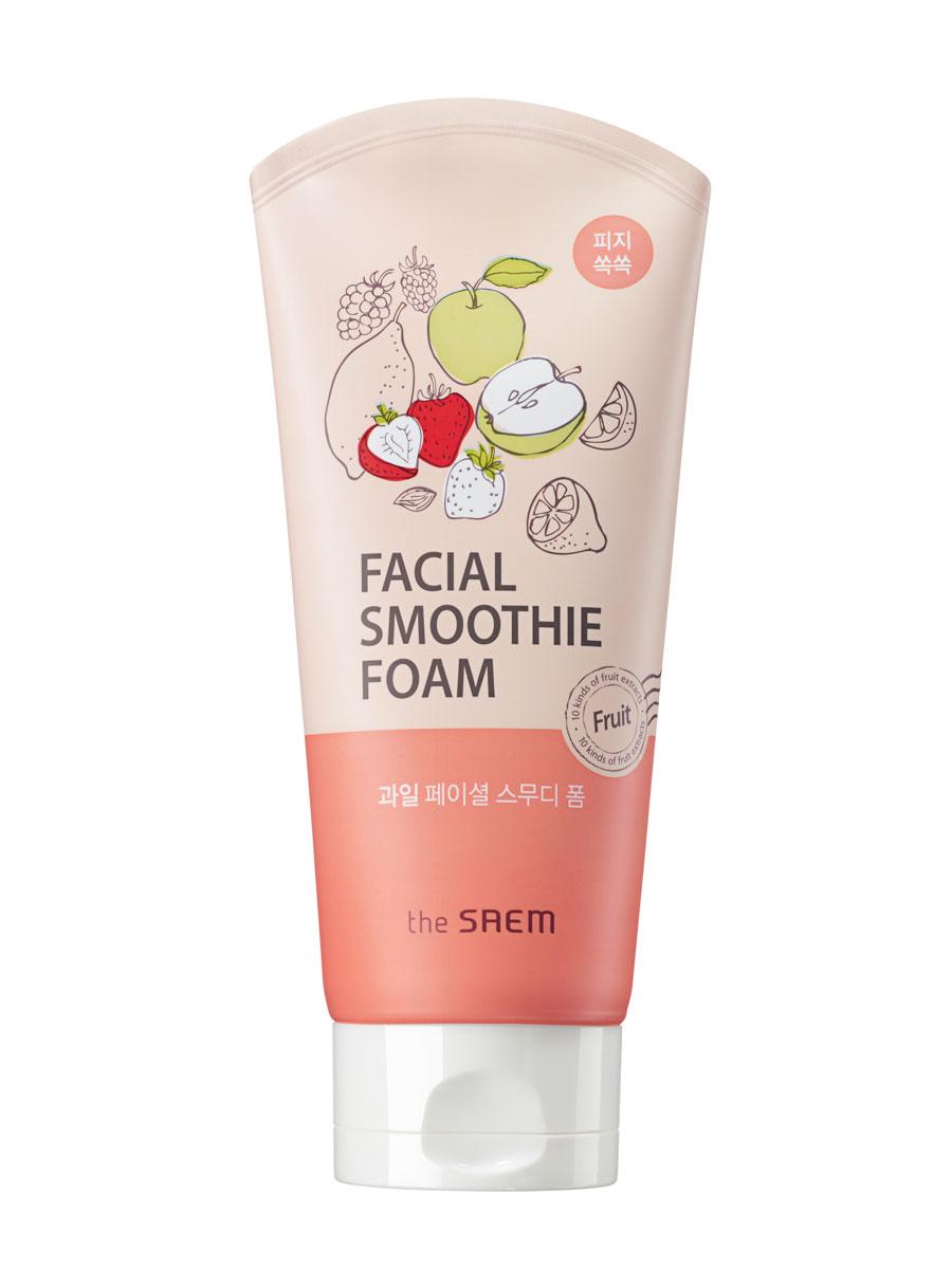 The Saem Пенка для умывания для лица фруктовая Fruit Facial Smoothie Foam, 150 млC47631Освежающая мультифруктовая пенка для очищения жирной кожи лица. Содержит десять видов фруктовых экстрактов и других растительных ингредиентов. Поддерживает здоровый вид кожи, одновременно питает и тщательно устраняет все загрязнения и отмершую роговицубез ощущения стянутости и сухости.Удаляет избыточное выделение кожного жира, контролирует его выделение, даря комфортное умывание и притягательный аромат. Мощный витаминный комплекс придает коже сияющий, здоровый тон, гладкость, тонизирует, обладает укрепляющим свойством, восстанавливая защиту от свободных радикалов. Объем: 150мл