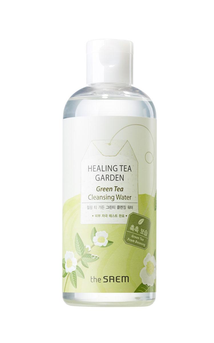 The Saem Вода очищающая увлажняющая с экстрактом зеленого чая Healing Tea Garden Green Tea Cleansing Water, 300 млFS-00610Эффективное средство для мягкого очищения и интенсивного увлажнения кожи. Вода содержит полифенолы зеленого чая, которые обладают противовоспалительным и антибактериальным действием, способствуют проникновению биологически активных веществ в кожу и снабжает клетки кислородом, усиливает защитные свойства кожи, уменьшает отеки.В воде не содержатся искусственные красители и отдушки, бензофенон, парабены, продукты животного происхождения, минеральные масла и тальк. Объем: 300 мл