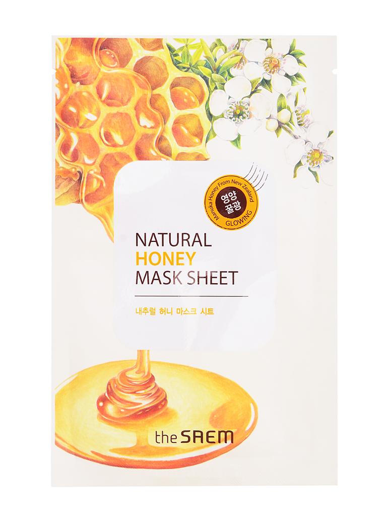 The Saem Маска тканевая с экстрактом меда Natural Honey Mask Sheet, 21 млFS-00897Тканевая маска из серии Natural содержит экстракт меда (1000 мг), экстракт опунции и т.д. В состав меда входит 15–20% воды, до 70% сахаров, а также протеины, аминокислоты, витамины С, D, ферменты, органические кислоты, минеральные соли калия, кальция, натрия, магния, железа, меди, кобальта, фосфора, серы, кремния, антибактериальные вещества, пыльца, воск, пигменты. Хорошо увлажняет, смягчает и питает кожу, стимулирует водно-солевой и жировой обмен в эпидермальных клетках, оказывает регенерирующее и очищающее действие, облегчая удаление ороговевших клеток.