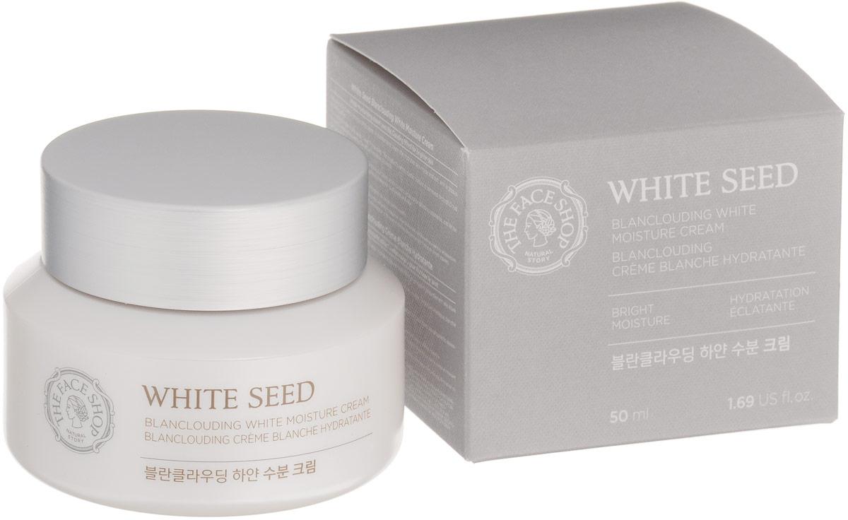The Face Shop Осветляющий крем для лица White Seed, 50млSG05Крем White Seed содержит в своем составе гексилрезорцин, который отбеливает кожу, контролирует и уменьшать фоточувствительность кожи, а значит уменьшает и предотвращает появление кожной пигментации (веснушки, пигментные пятна, постакне). Гексилрезорцин в 1000 раз эффективней отбеливает кожу чем витамин С, создает молочно-белую кожу с красивым внутренним свечением. Кроме того, линия средств имеет в своем составе систему активного увлажнения и сохранения влаги в коже, а потому является идеальным дневным уходом. НЕ содержит парабенов, денатурированный этиловый спирт, минеральных масел, искусственных красителей, продуктов животного происхождения, бензофенонов, триэтаноламин.