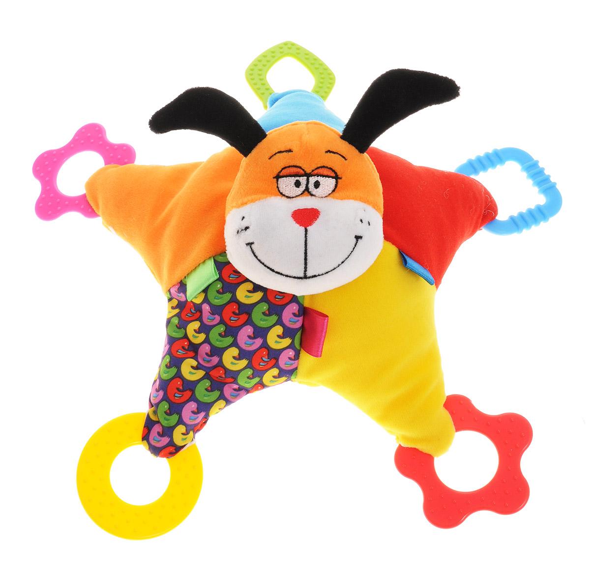 Bondibon Мягкая игрушка-погремушка Собака 32 см, Bondibon Creatures Co., LTD