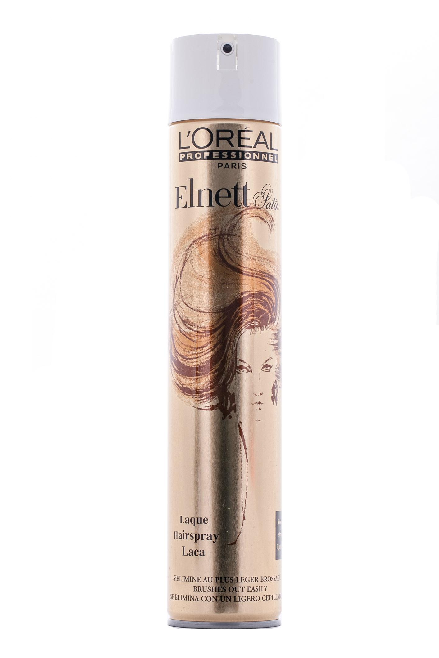 LOreal Professionnel Лак для волос Elnett Laque / Эльнeтт Жеробоам - 500 млMP59.4DОсновная функция лака Эльнетт атласный Лак от Лореаль придать вашей прическе пышный объем у корней волос и надежно закрепить укладку. Специальная формула этого лака позволяет очень ровно и равномерно наносить его на волосы. При этом, лак не утяжеляет структуры ваших волос, не склеивает их и не оставляет на волосах некрасивого налета. Прическа идеально держится в течение долгого рабочего дня. Пышные волосы сияют здоровьем и заставляют прохожих восхищенно смотреть вам вслед. Вы – само совершенство!