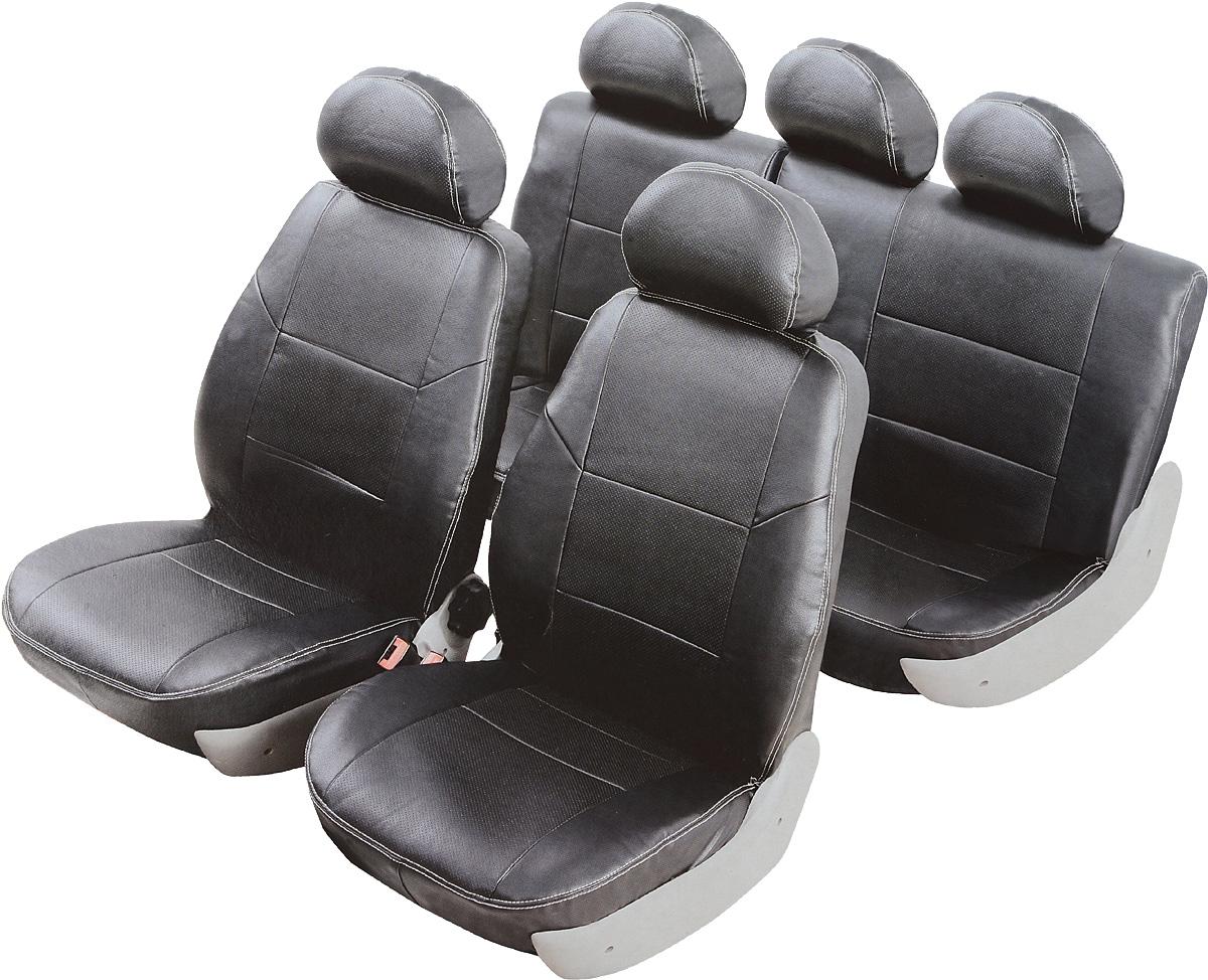 Чехлы автомобильные Senator Atlant, для Hyundai Getz 2005-2011, раздельный задний ряд, цвет: черный21395599Автомобильные чехлы Senator Atlant изготовлены из качественной мягкой экокожи, триплированной огнеупорным поролоном толщиной 5 мм, за счет чего чехол приобретает дополнительную мягкость. Подложка из спандбонда сохраняет свойства поролона и предотвращает его разрушение. Водительское сиденье имеет усиленные швы, все внутренние соединительные швы обработаны оверлоком. Чехлы идеально повторяют штатную форму сидений и выглядят как оригинальный кожаный салон. Разработаны индивидуально для каждой модели автомобиля. Дизайн чехлов Senator Atlant приближен к оригинальной обивке салона. Чехлы имеют вставки из перфорированной кожи по центру переднего сиденья и на подголовниках, которые создают дополнительный комфорт во время поездки. Декоративная контрастная прострочка по периметру авточехлов придает стильный и изысканный внешний вид интерьеру автомобиля. В спинках передних сидений расположены карманы, закрывающиеся на молнию. Чехлы сохраняют полную функциональность салона - трансформация сидений, возможность установки детских кресел ISOFIX, не препятствуют работе подушек безопасности AIRBAG и подогреву сидений. Для простоты установки используется липучка Velcro, учтены все технологические отверстия. Авточехлы Senator Atlant просты в уходе - загрязнения легко удаляются влажной тканью. Чехлы имеют раздельную схему надевания.