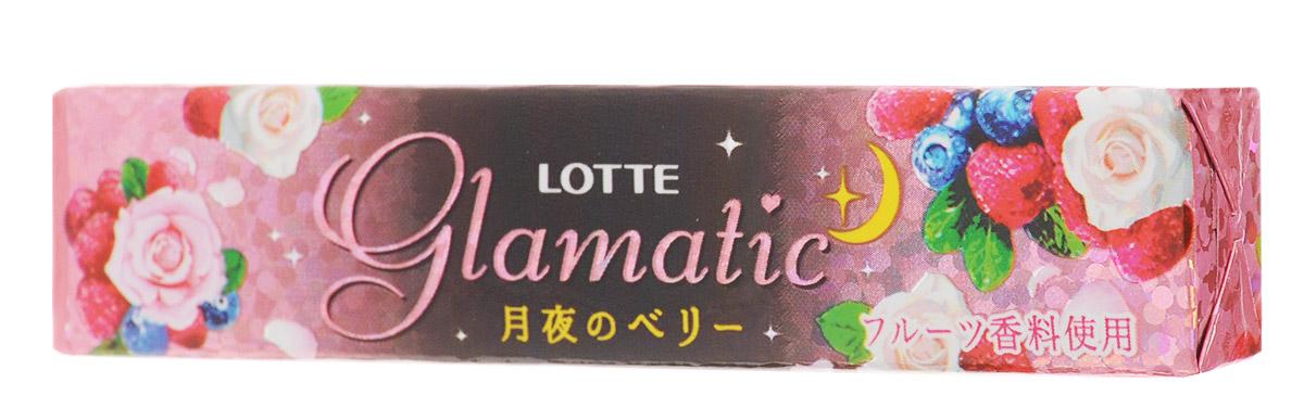 Lotte Glamatic Berry Moonlight жевательная резинка, 21 г0120710Lotte Glamatic Berry Moonlight - это прекрасный аромат лепестков розы и дурманящий запах из ягодного коктейля. Сначала улавливаются ноты черники и клубники, а чуть позже раскрывается аромат розы! Glamatic Berry Moonlight - красиво, ароматно, гламурно и очень вкусно!