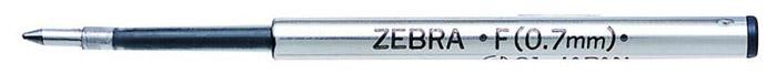 Zebra Стержень для шариковых ручек F черный72523WDПоддерживаемые модели ручек: F301, F301 Ultra, F301 Compact, F701, ZEBRA 710, SLIDE, AIRFIT 500, Mini 300 Толщина пишущего узла: 0.7 ммДлина письма: 1100-1250 м