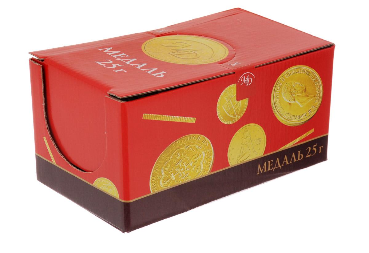Монетный двор Знаки Зодиака шоколадные медали, 24 шт по 25 г4620000674290Каким бы не было достижение, шоколадные медали станут великолепной наградой, ведь они так привлекательно смотрятся и, самое главное, обладают таким насыщенным, ярко выраженным вкусом сортового шоколада. Пусть каждая победа будет отмечена вкусной наградой!Монетный двор Знаки зодиака - таинственные астральные знаки, которые так изящно смотрятся на золотых обертках этих вкусных шоколадных конфет!Уважаемые клиенты! Обращаем ваше внимание на то, что упаковка может иметь несколько видов дизайна. Поставка осуществляется в зависимости от наличия на складе.
