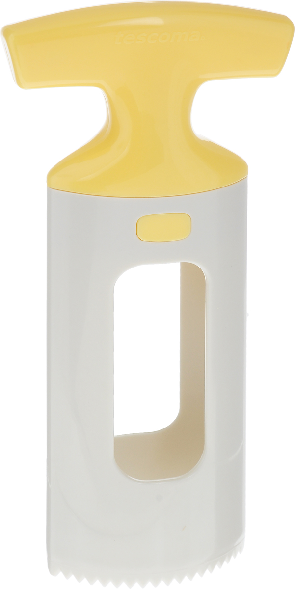 Приспособление для нарезки манго Tescoma Handy, цвет: белый, желтый94672Приспособление для нарезки манго Tescoma Handy изготовлено из прочного пищевого пластика. Изделие замечательно для простого отделения косточки манго от мякоти, подходит для малых и больших фруктов. Можно мыть в посудомоечной машине.