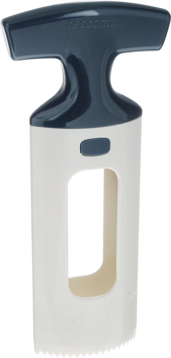 Приспособление для нарезки манго Tescoma Handy, цвет: белый, черный391602Приспособление для нарезки манго Tescoma Handy изготовлено из прочного пищевого пластика. Изделие замечательно для простого отделения косточки манго от мякоти, подходит для малых и больших фруктов. Можно мыть в посудомоечной машине.