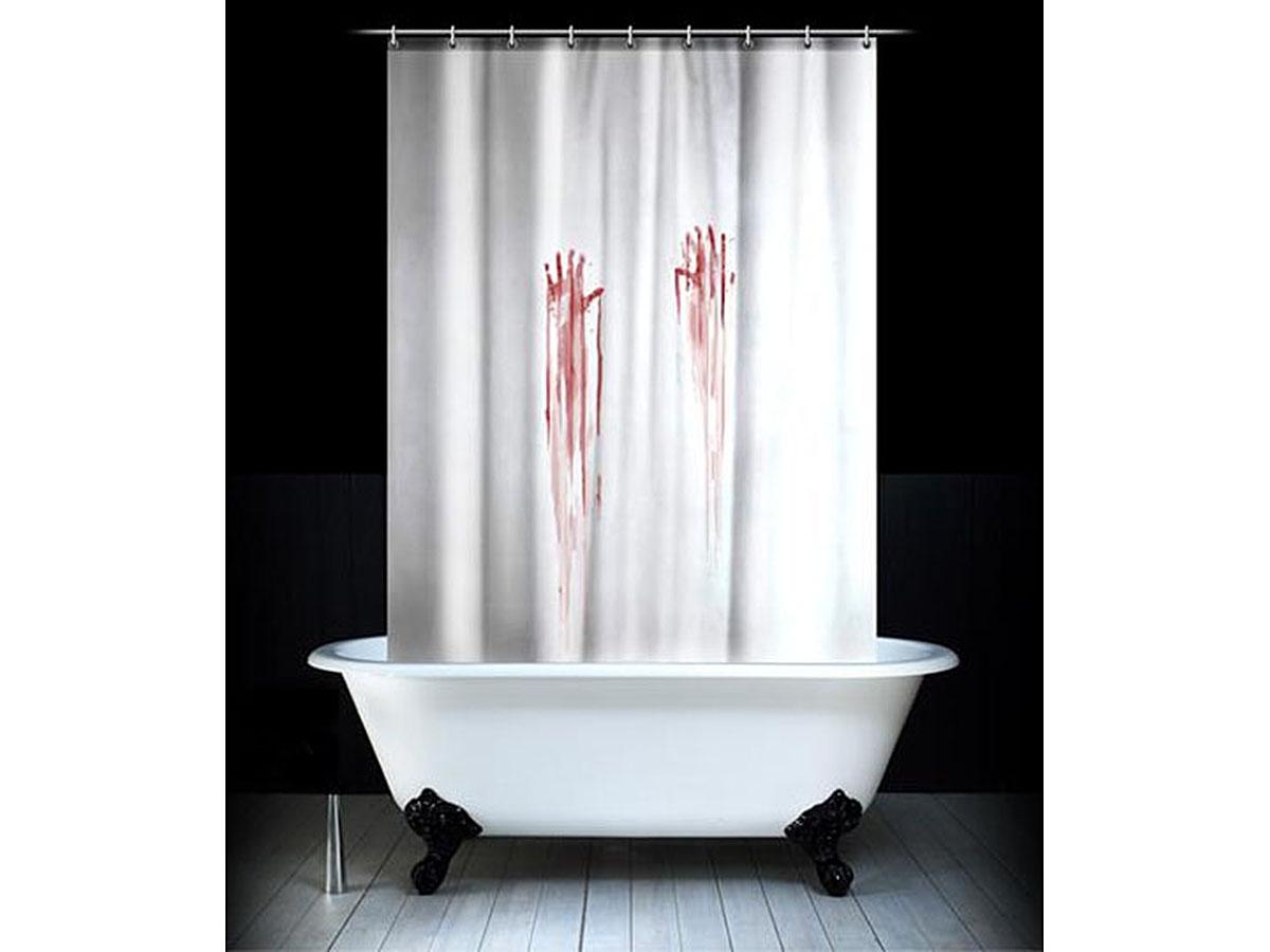 Штора для ванной комнаты Эврика Кровавая, 180 х 180 смшв_2730Забавная штора Эврика Кровавая, изготовленная из качественного водонепроницаемого полиэстера, сделает простую гигиеническую процедуру гораздо более интригующей. Отличный подарок для людей, не обделённых чувством юмора.В комплект входят пластиковые петли для крепления на карнизе или шнуре.