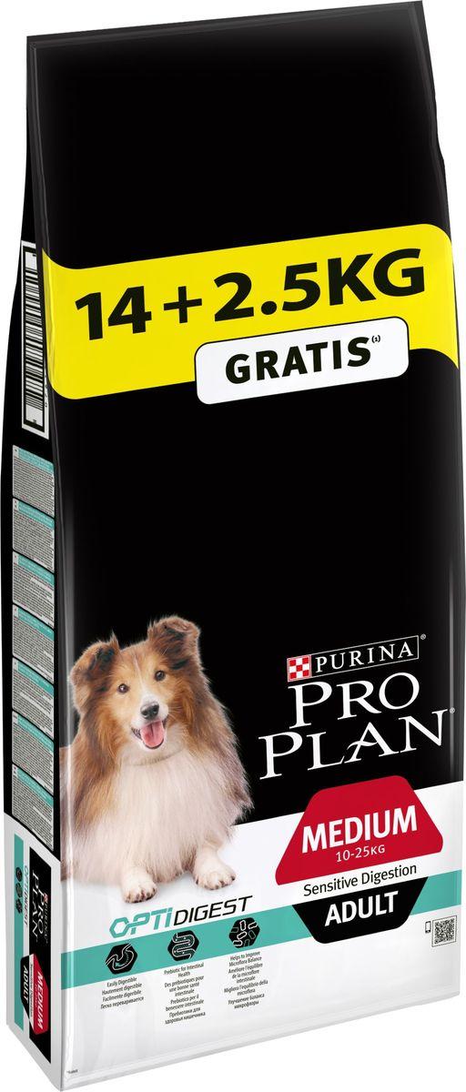 Корм сухой Pro Plan Adult Digestion, для собак с чувствительным пищеварением, с ягненком и рисом, 14 кг + 2,5 кг в подарок0120710Сухой корм Pro Plan Adult Digestion - полнорационный сбалансированный корм для взрослых собак средних пород с чувствительным пищеварением. Ветеринарные врачи и специалисты по кормлению компании Purina используют данные научных исследований для развития особых инноваций, продлевающих здоровую жизнь вашего питомца. Основываясь на передовых научных разработках, Pro Plan обеспечивает сбалансированное питание, чтобы ваш питомец прожил долгую, здоровую и счастливую жизнь. Содержит кусочки ягненка в качестве основного ингредиента, которые готовятся специальным методом, позволяющим сохранить их питательную ценность и вкусовые качества.Содержит тщательно отобранные ингредиенты, обеспечивающие достаточное содержание питательных веществ и высокую усвояемость.Имеет в составе высокий уровень витаминов, минеральных и питательных веществ для соответствия нуждам питомца на разных стадиях развития и при разном образе жизни. Способствует росту числа бифидобактерий и нормализации микрофлоры кишечника. Кожа и шерсть. Благодаря основным питательным веществам, таким как жирные кислоты омега-3 и омега-6, у собаки сохраняется здоровая кожа и густая блестящая шерсть, которые защищают ее от воздействия неблагоприятных внешних факторов. Состав: ягненок (14%), пшеница, кукуруза, сухой белок птицы, кукурузная мука, кукурузный глютен, рис (4%), сухая мякоть свеклы, животный жир, вкусоароматическая кормовая добавка, яичный порошок (1,5%), минеральные вещества, рыбий жир, витамины и антиоксиданты.Добавленные вещества: МЕ/кг: витамин A: 36 600; витамин D3: 1190; витамин E: 615; мг/кг: витамин C: 200; железо: 95,1; йод: 2,4; медь: 14,8; марганец: 44,8; цинк: 178; селен: 0,15.Гарантируемые показатели: белок: 26,0%; жир: 16,0%; сырая зола: 7,5%; сырая клетчатка: 2,0%; Омега3 жирные кислоты:0,3%; Омега6 жирные кислоты: 2,1%.Вес: 3 кг.Товар сертифицирован.