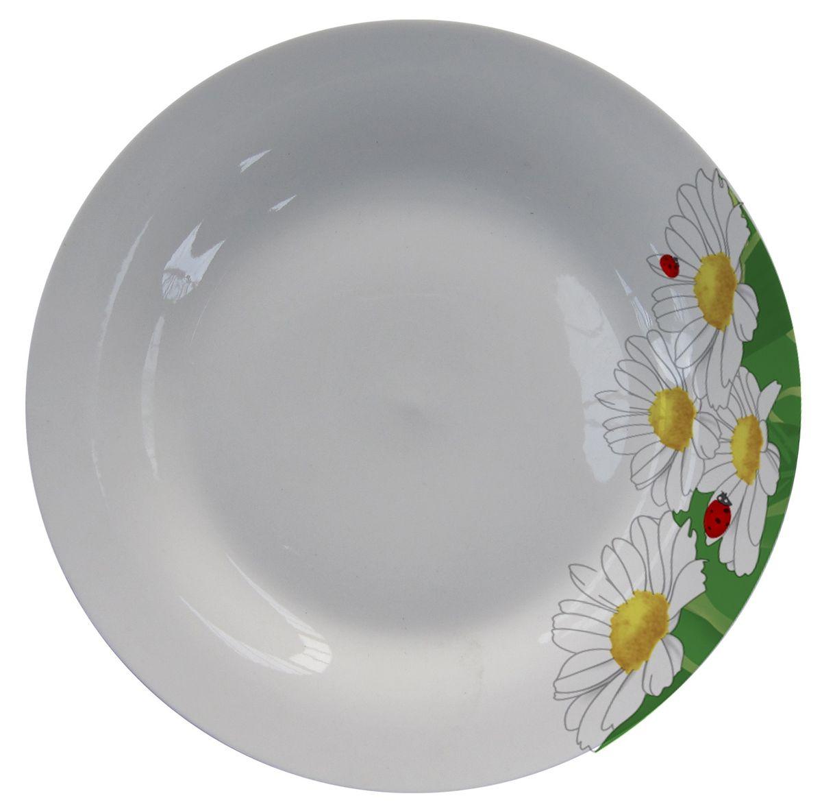 Тарелка МФК-профит Ромашки, диаметр 18 см54 009312Тарелка МФК-профит, изготовленная из стеклокерамики, украшена ярким рисунком. Изящный дизайн придется по вкусу и ценителям классики, и тем, кто предпочитает утонченность.Такая тарелка идеально подойдет для сервировки стола и станет отличным подарком к любому празднику.