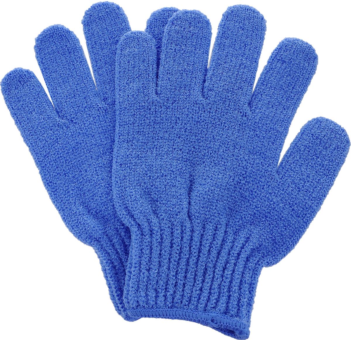 Перчатки для пилинга Riffi, цвет: синий5010777139655Эластичные безразмерные перчатки Riffi обладают активным антицеллюлитным эффектом и отличным пилинговым действием, тонизируя, массируя и эффективно очищая вашу кожу.Перчатки Riffi освобождает кожу от отмерших клеток, стимулирует регенерацию. Эффективно предупреждают образование целлюлита и обеспечивают омолаживающий эффект. Кожа становится гладкой, упругой и лучше готовой к принятию косметических средств. Интенсивный и пощипывающий свежий массаж тела с применением перчаток Riffi стимулирует кровообращение, активирует кровоснабжение, способствует обмену веществ. В комплекте 1 пара перчаток.