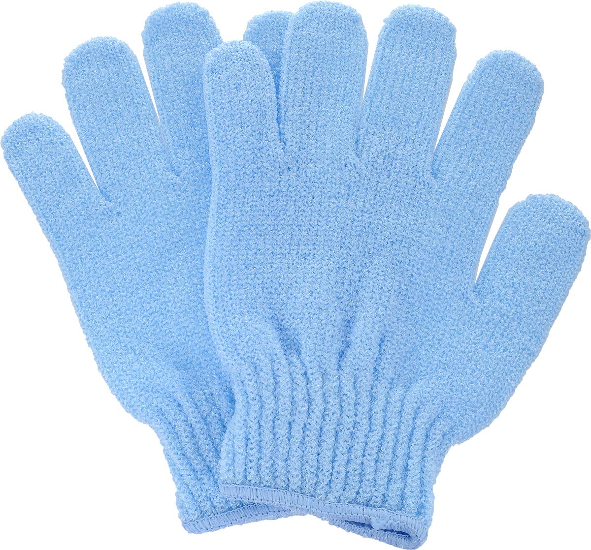 Перчатки для пилинга Riffi, цвет: голубой5010777139655Эластичные безразмерные перчатки Riffi обладают активным антицеллюлитным эффектом и отличным пилинговым действием, тонизируя, массируя и эффективно очищая вашу кожу.Перчатки Riffi освобождает кожу от отмерших клеток, стимулирует регенерацию. Эффективно предупреждают образование целлюлита и обеспечивают омолаживающий эффект. Кожа становится гладкой, упругой и лучше готовой к принятию косметических средств. Интенсивный и пощипывающий свежий массаж тела с применением перчаток Riffi стимулирует кровообращение, активирует кровоснабжение, способствует обмену веществ. В комплекте 1 пара перчаток.
