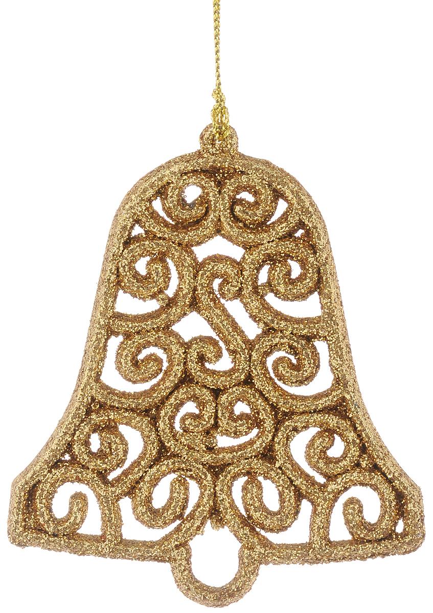 Украшение новогоднее подвесное Magic Time Золотой колокольчик, 8 х 9 см42517Новогоднее подвесное украшение Magic Time Золотой колокольчик выполнено из полипропилена в виде колокольчика и украшено блестками. С помощью специальной петельки украшение можно повесить в любом понравившемся вам месте. Но, конечно, удачнее всего оно будет смотреться на праздничной елке.Елочная игрушка - символ Нового года. Она несет в себе волшебство и красоту праздника. Создайте в своем доме атмосферу веселья и радости, украшая новогоднюю елку нарядными игрушками, которые будут из года в год накапливать теплоту воспоминаний.Материал: полипропилен.Размер: 8 х 9 см.