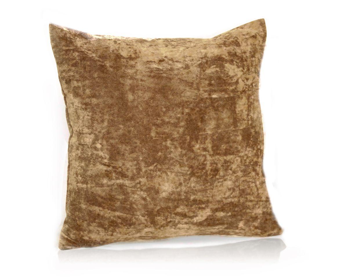Подушка декоративная KauffOrt Бархат, цвет: светло-коричневый, 40 x 40 см531-105Декоративная подушка Бархат прекрасно дополнит интерьер спальни или гостиной. Бархатистый на ощупь чехол подушки выполнен из 49% вискозы, 42% хлопка и 9% полиэстера. Внутри находится мягкий наполнитель. Чехол легко снимается благодаря потайной молнии.