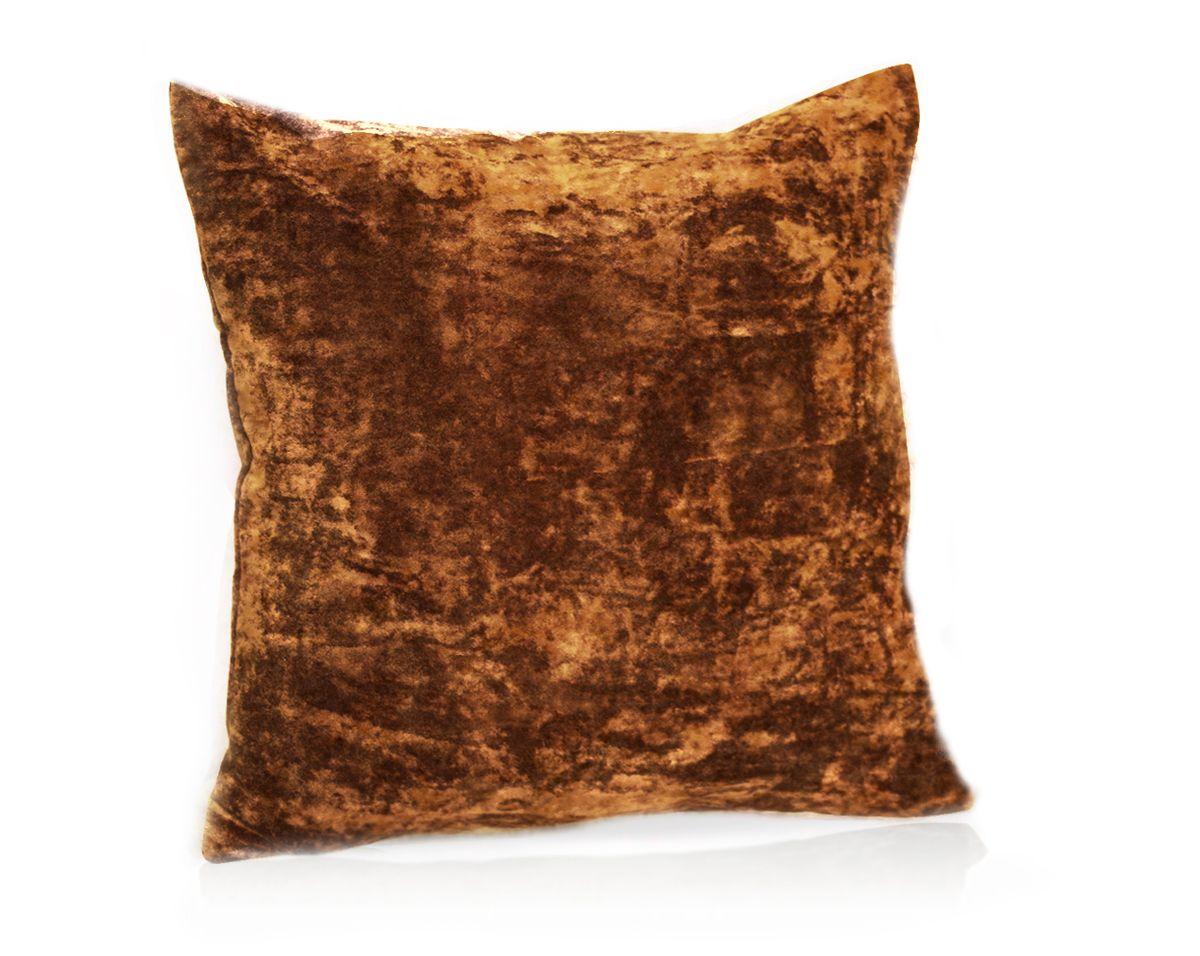 Подушка декоративная KauffOrt Бархат, цвет: терракотовый, 40 x 40 смCLP446Декоративная подушка Бархат прекрасно дополнит интерьер спальни или гостиной. Бархатистый на ощупь чехол подушки выполнен из 49% вискозы, 42% хлопка и 9% полиэстера. Внутри находится мягкий наполнитель. Чехол легко снимается благодаря потайной молнии.