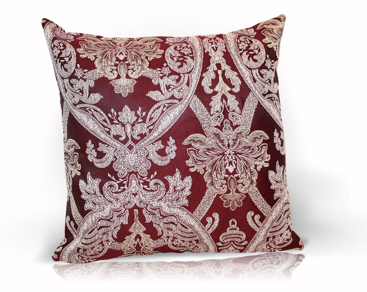 Подушка декоративная KauffOrt Мауритани, цвет: бордовый, 40 x 40 смPH3671Декоративная подушка Мауритани прекрасно дополнит интерьер спальни или гостиной. Чехол подушки выполнен из жаккардовой ткани. Внутри находится мягкий наполнитель. Чехол легко снимается благодаря потайной молнии.