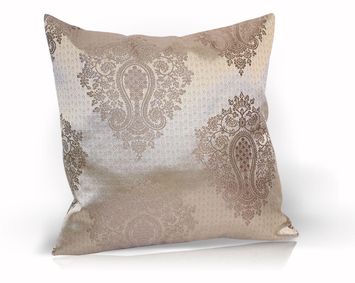 Подушка декоративная KauffOrt Лорель, цвет: коричневый, 40 x 40 см17102028Декоративная подушка Лорель прекрасно дополнит интерьер спальни или гостиной. Чехол подушки выполнен из жаккардовой ткани. Внутри находится мягкий наполнитель. Чехол легко снимается благодаря потайной молнии.