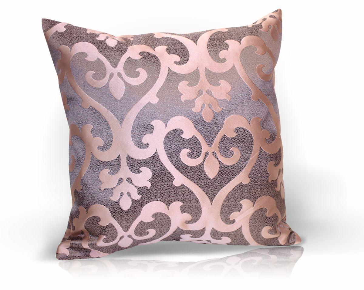 Подушка декоративная KauffOrt Флорентина, цвет: сиреневый, 40 x 40 см531-105Декоративная подушка Флорентина прекрасно дополнит интерьер спальни или гостиной. Чехол подушки выполнен из жаккардовой ткани. Внутри находится мягкий наполнитель. Чехол легко снимается благодаря потайной молнии.
