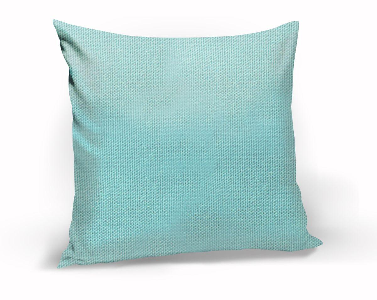 Подушка декоративная KauffOrt Комо, цвет: голубой, 40 x 40 смSVC-300Декоративная подушка Комо прекрасно дополнит интерьер спальни или гостиной. Чехол подушки выполнен из лонеты. Внутри находится мягкий наполнитель. Чехол легко снимается благодаря потайной молнии.