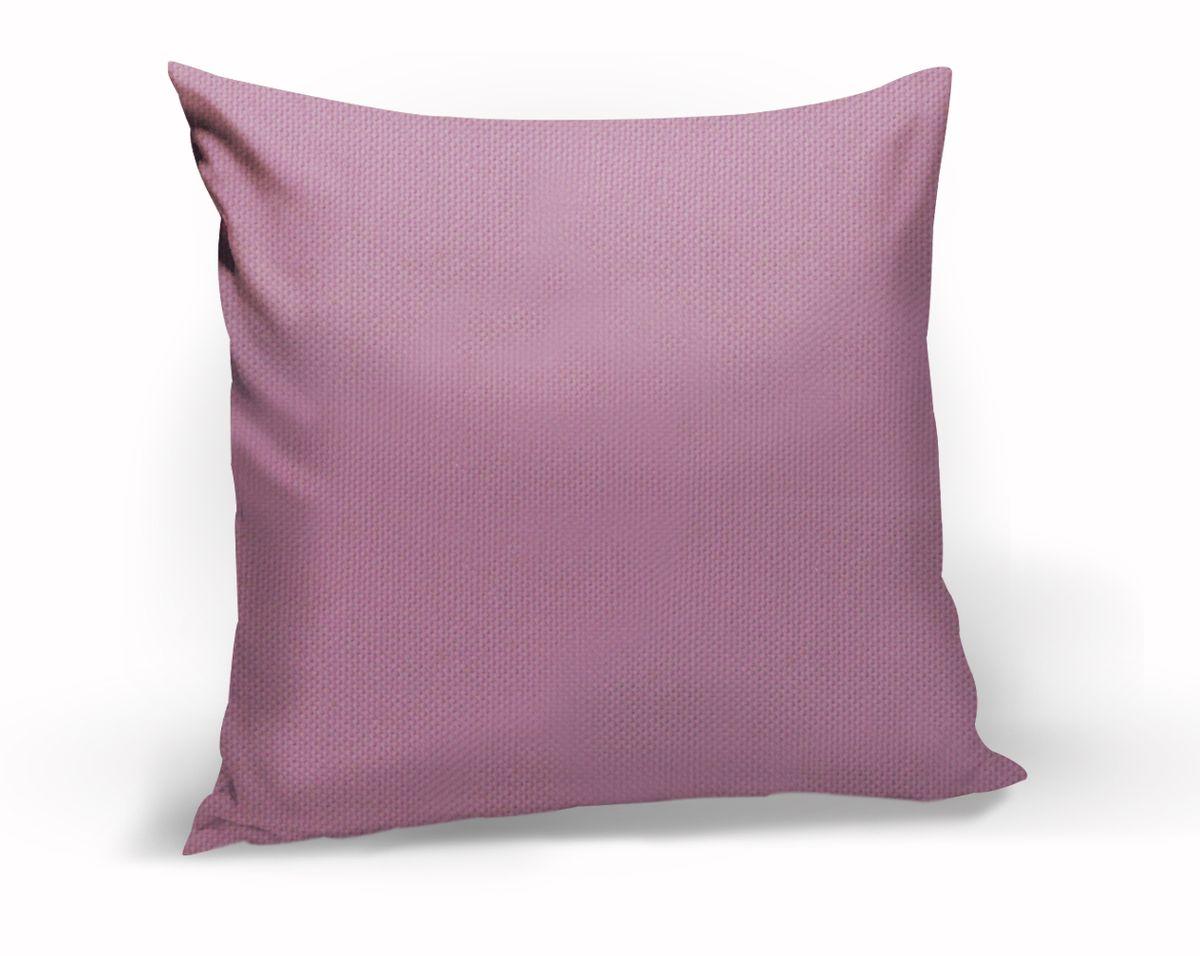Подушка декоративная KauffOrt Комо, цвет: розово-сиреневый, 40 x 40 смPR-2WДекоративная подушка Комо прекрасно дополнит интерьер спальни или гостиной. Чехол подушки выполнен из лонеты. Внутри находится мягкий наполнитель. Чехол легко снимается благодаря потайной молнии.
