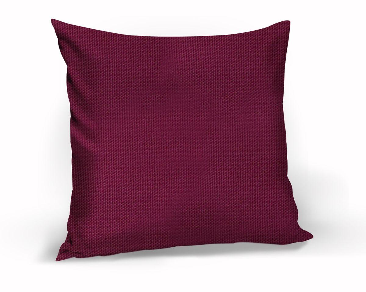 Подушка декоративная KauffOrt Комо, цвет: бордово-фиолетовый, 40 x 40 см16051Декоративная подушка Комо прекрасно дополнит интерьер спальни или гостиной. Чехол подушки выполнен из лонеты. Внутри находится мягкий наполнитель. Чехол легко снимается благодаря потайной молнии.
