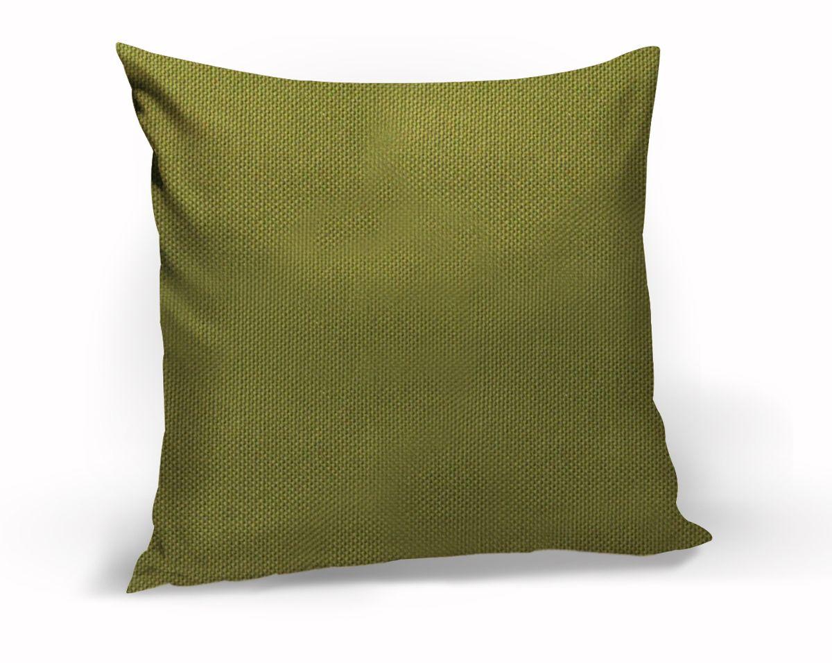 Подушка декоративная KauffOrt Комо, цвет: темно-зеленый, 40 x 40 см531-105Декоративная подушка Комо прекрасно дополнит интерьер спальни или гостиной. Чехол подушки выполнен из лонеты. Внутри находится мягкий наполнитель. Чехол легко снимается благодаря потайной молнии.